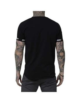 Camiseta Siksilk S/S Raglan Panel Fade Tech Tee Bl