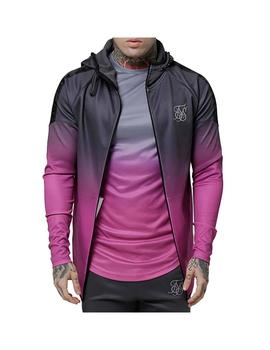 Sudadera SikSilk Raglan Athlete Fade Taped Hoodie