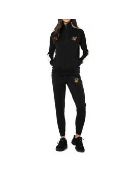 Sudadera SikSilk Quarter Zip Runner Tape Track Top