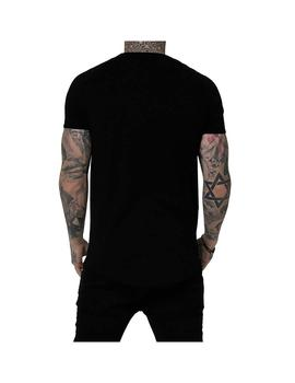 Camiseta SikSilk S/S Tape Gym Tee Black-Rose Hombre