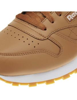 ZAPATILLAS REEBOK CL LEATHER MARRON HOMBRE