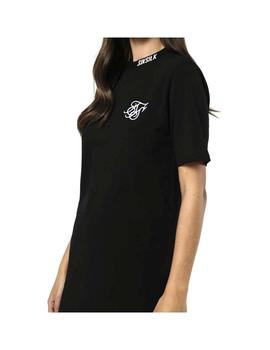 Vestido SikSilk Taped Neck Box Fit Negro Mujer