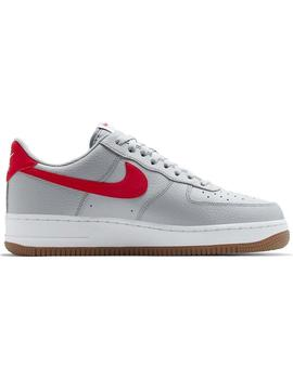 Zapatillas Nike Air Force 1 Wolf Gris/Rojo Hombre