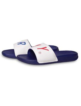 Chanclas Grimey Happy End F.A.L.A Blanco/Azul Hombre