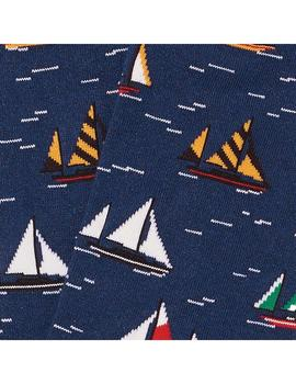 Calcetines Jimmy Lion Sailboat Racing Dark Blue