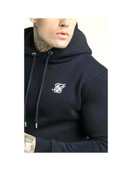 Sudadera SikSilk Muscle Fit Overhead Navy