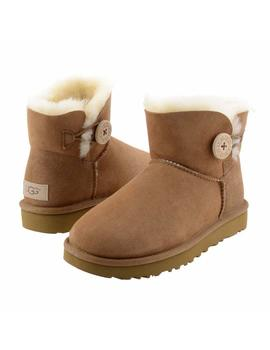 Botas Ugg  Mini Bailey Button II Chestnut Mujer