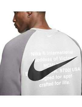 Sudadera Nike Sportswear Swoosh Particle Gris Hombre