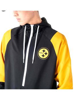 Chaqueta New Era Nfl Windbreaker Steelers Negro Hombre