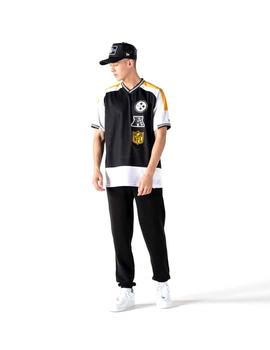 Camiseta New Era Nfl Stacked Logo Steelers Negro Hombre