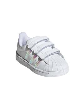 Zapatillas Adidas Superstar Cf I Blanco Niño/a