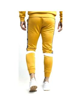 Pantalón SikSilk Cuffed Cropped Poly Mostaza Hombre