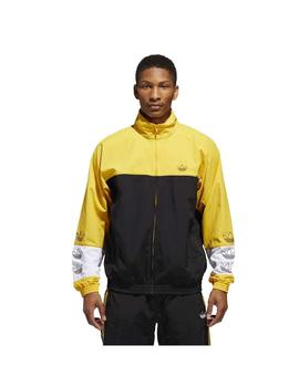 CHAQUETA ADIDAS BLOCKED BLACK/GOLD HOMBRE