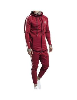 Chaqueta SikSilk Tech Athlete Zip Granate Hombre