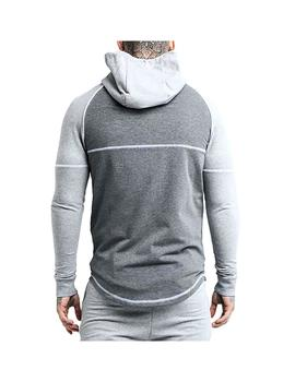 Chaqueta SikSilk Zonal Zip Through Gris Hombre