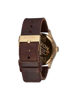Reloj Nixon Sentry Leather Polished Gold / Navy Unisex