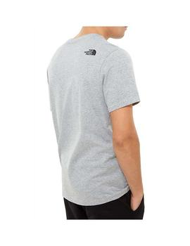 Camiseta The North Face Fine Heather Grey Hombre