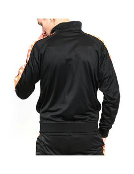 Chaqueta Kappa Anniston Slim Black/Neon Orange