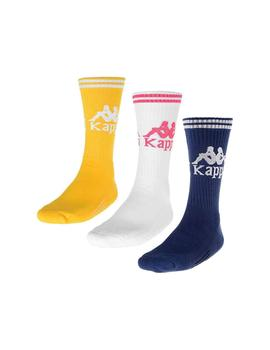 Calcetines Kappa Aster 3 Pack (Soccer) Yellow/Whit