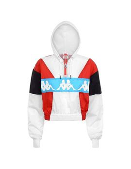 Chaqueta Kappa Clemy White/Red/Turquoise