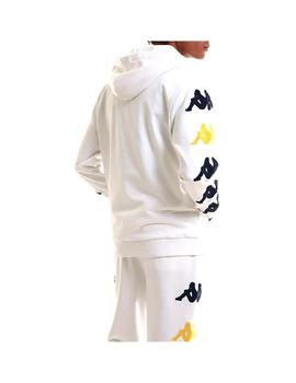 Sudadera Kappa Charice White/Blue Md/White