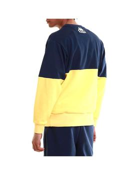 Sudadera Kappa Clinic Blue Md/Yellow/White