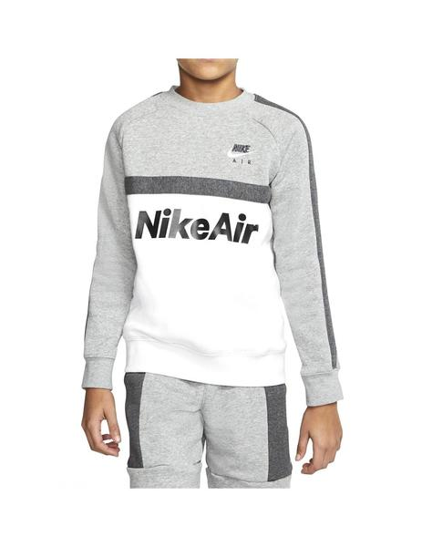 Sudadera Nike Air Grey Heather/White Niño