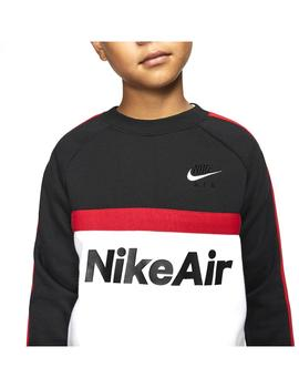 Sudadera Nike Air Black/White/University Niño