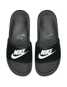 CHANCLAS NIKE BENASSI JUST DO IT BLK/WHT
