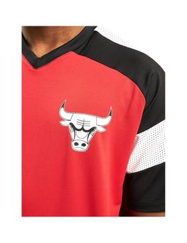 Camiseta New Era Nba Colour Block Bulls Rojo Hombre