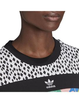 Camiseta Adidas Cropped Multco Mujer