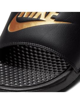 Chanclas Nike Benassi Jdi Black/Metallic Gold Hombre