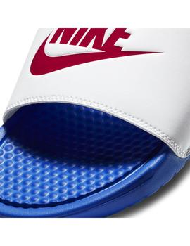 Chanclas Nike Benassi Jdi Game Royal/Red Hombre