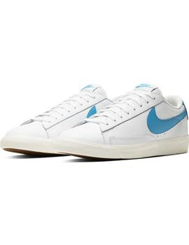 Zapatillas Nike Blazer Low Leather White/Laser Azul Hombre