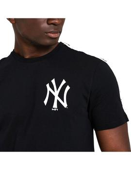 Camiseta New Era MLB Sleeve Taping Tee Neyvan Blk