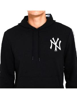 Sudadera New Era MLB Sleeve Taping Po Hoody Blk