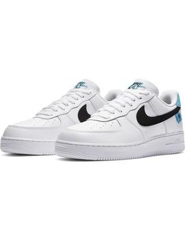 Zapatillas Nike Air Force 1 '07 White/Black-Blue Hombre
