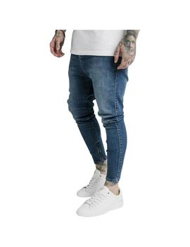 Pantalón SikSilk Drop Crotch Denim Midstone Blue Hombre