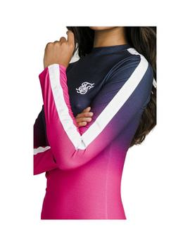 Vestido SikSilk Tape Fade Body Dress Navy/Pink Mujer
