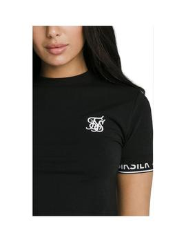 Camiseta SikSilk Crop Tech Black Mujer