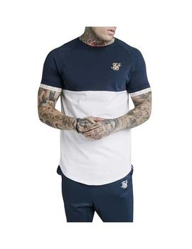 Camiseta SikSilk S/S Cut - Sew Tech Navy Hombre