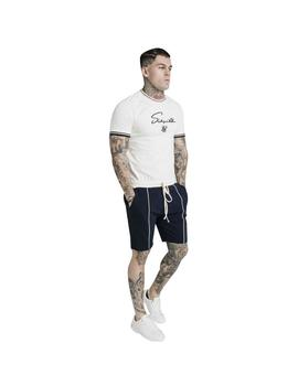 Camiseta SikSilk Signature Piped Tech Tee White Hombre
