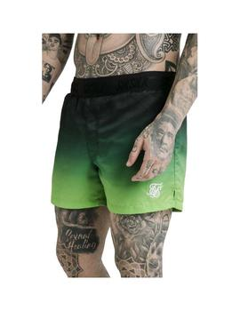 Bermuda SikSilk Tape Fade Swim Shorts Black Verde