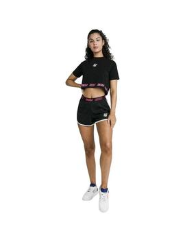Short SikSilk Tape Runner Shorts Negro Mujer