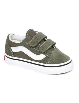 Zapatillas Vans Old Skool V Grape Leaf/True White Niños