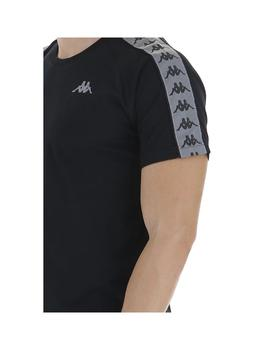 Camiseta Kappa Michael Black-Grey Reflective Hombre