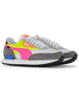 Zapatillas Puma Future Rider Play On Wht/Yellow Mujer