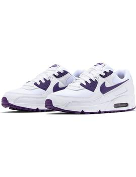 Zapatillas Nike Air Max 90 White/Voltage Purple Hombre