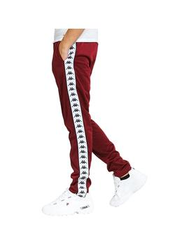 Pantalón Kappa Astoria Slim Red Dahlia-White