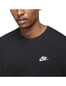 Camiseta Nike Sportswear Club Black/White Hombre